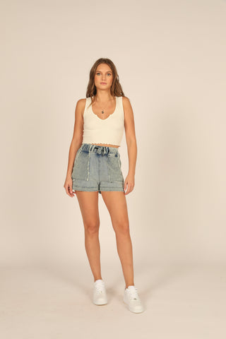 Reverse Detail Knit Short