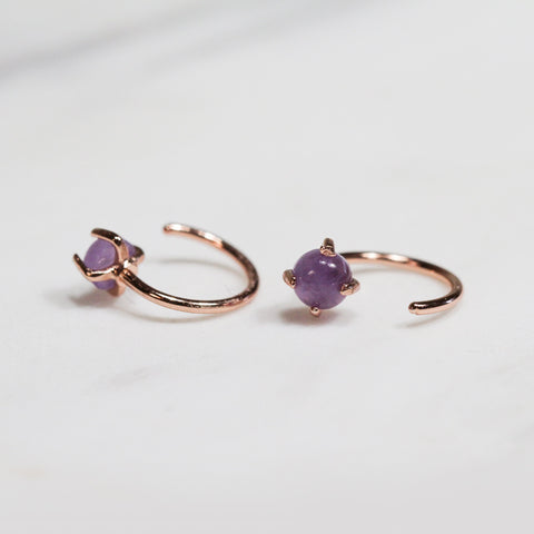 Amethyst Huggie Earrings Jax Kelly