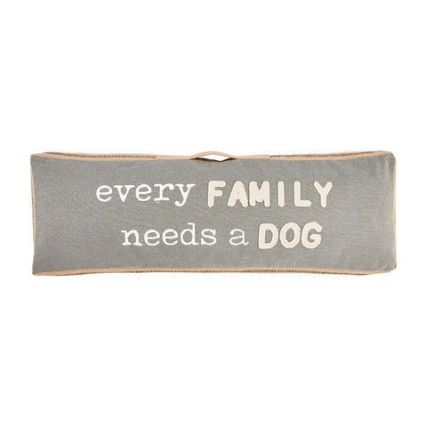 """Every Family"" Long Dog Pillow"
