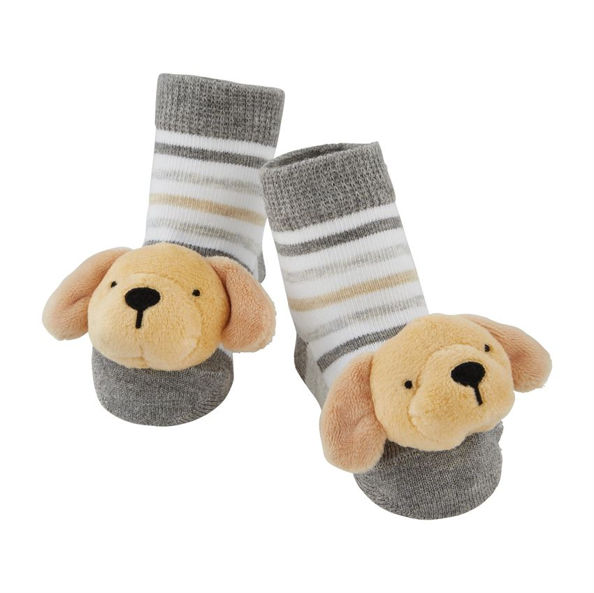 Yellow Lab Rattle Toe Socks