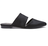 Berlin Black Slip On Mule