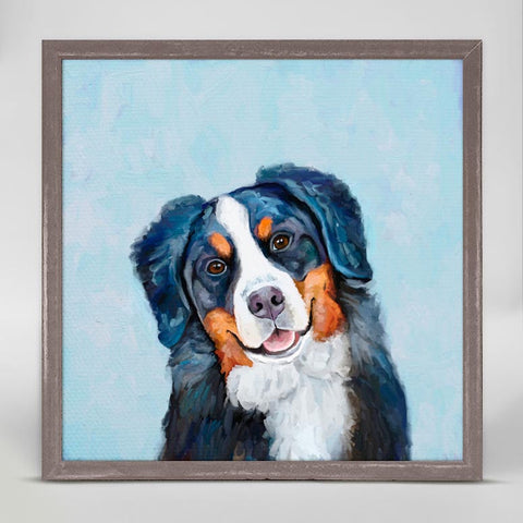Best Friend Bernese Mountain Dog Mini Framed Canvas