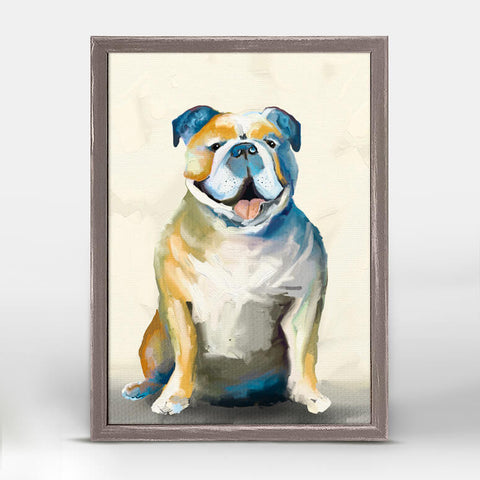 'Best Friend-Bulldog' Mini Framed Canvas