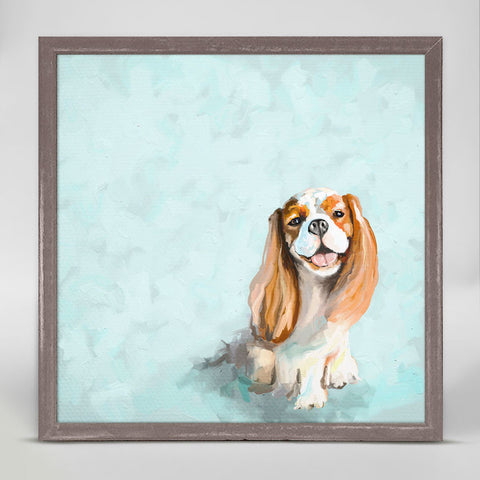 Best Friend Cavalier Mini Framed Canvas