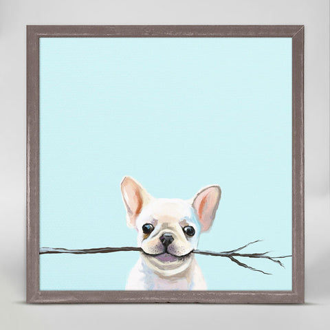Best Friends - Frenchie Fetch Mini Framed Canvas
