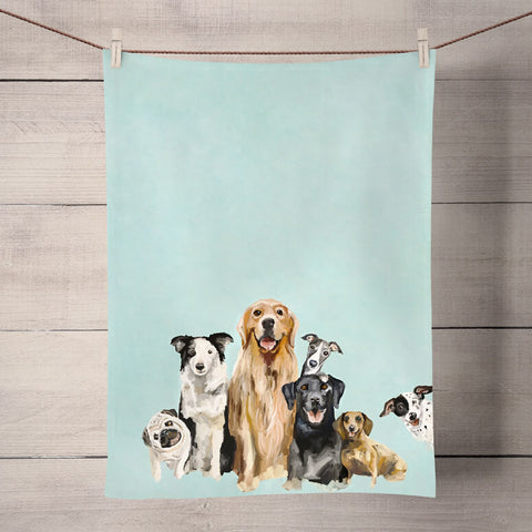 Puppy Pack Tea Towel