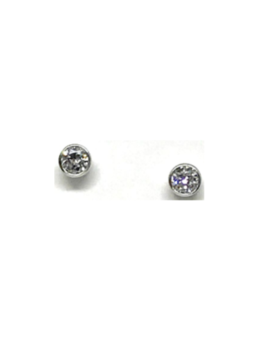 Athena Designs Bezel Studs In Sterling Silver