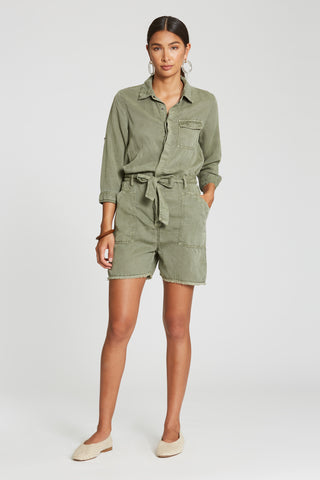 Adrian Romper in Watercress