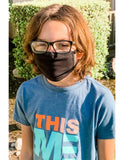 Kids Reusable Face Mask, Black