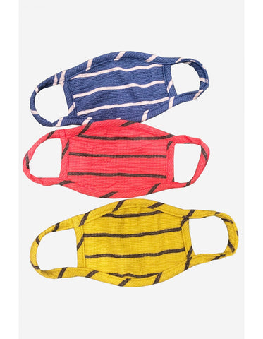 Kids 3-Pack Reusable Face Mask, Bright Stripe