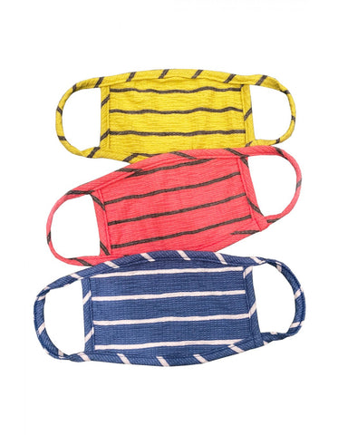 Adult 3-Pack Reusable Face Masks, Bright Stripe
