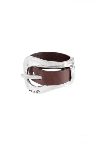 Uno de 50 No Measure Bracelet Silver Leather