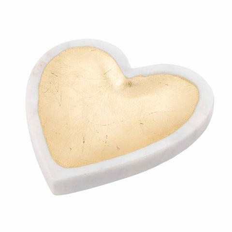 White Marble Foil Heart Tray