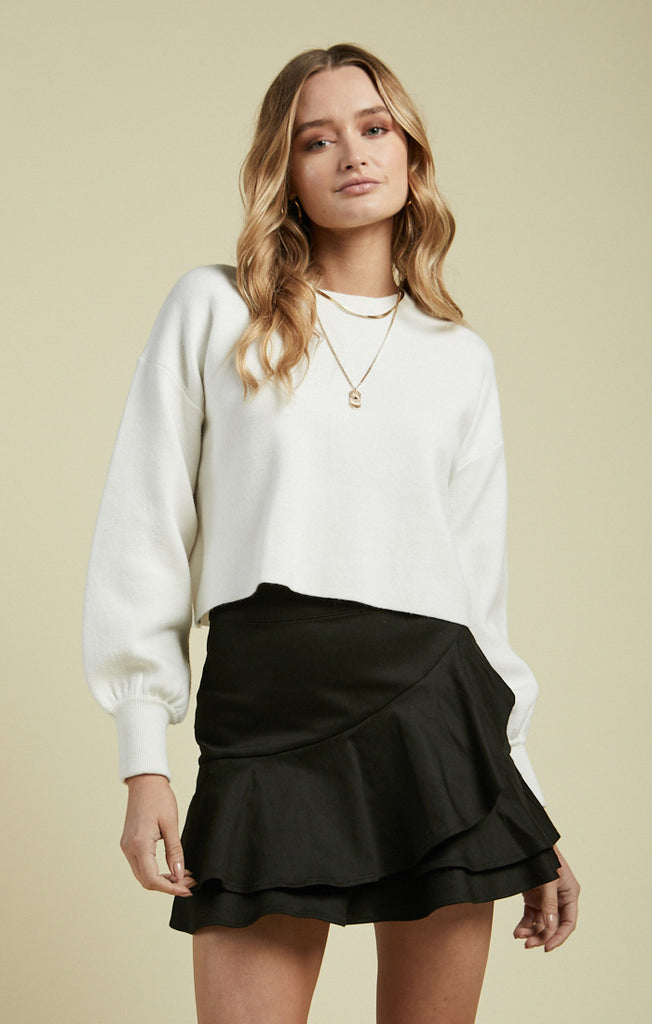 Aria Sweater, White
