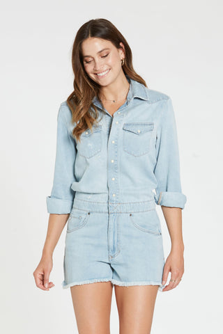 Logan Denim Romper