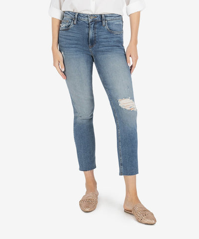 Rachael High Rise Mom Jean, Noticable Wash