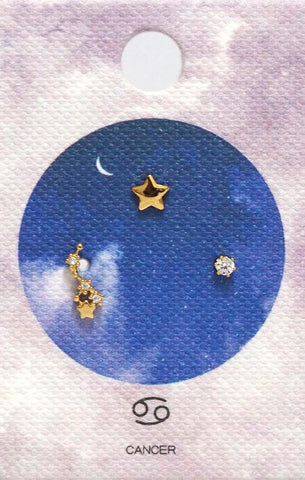 Tai Zodiac Constellation Earrings - Cancer