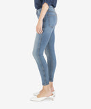 Connie High-Rise Fab Ab-Ankle Skinny, Wash Cumulated