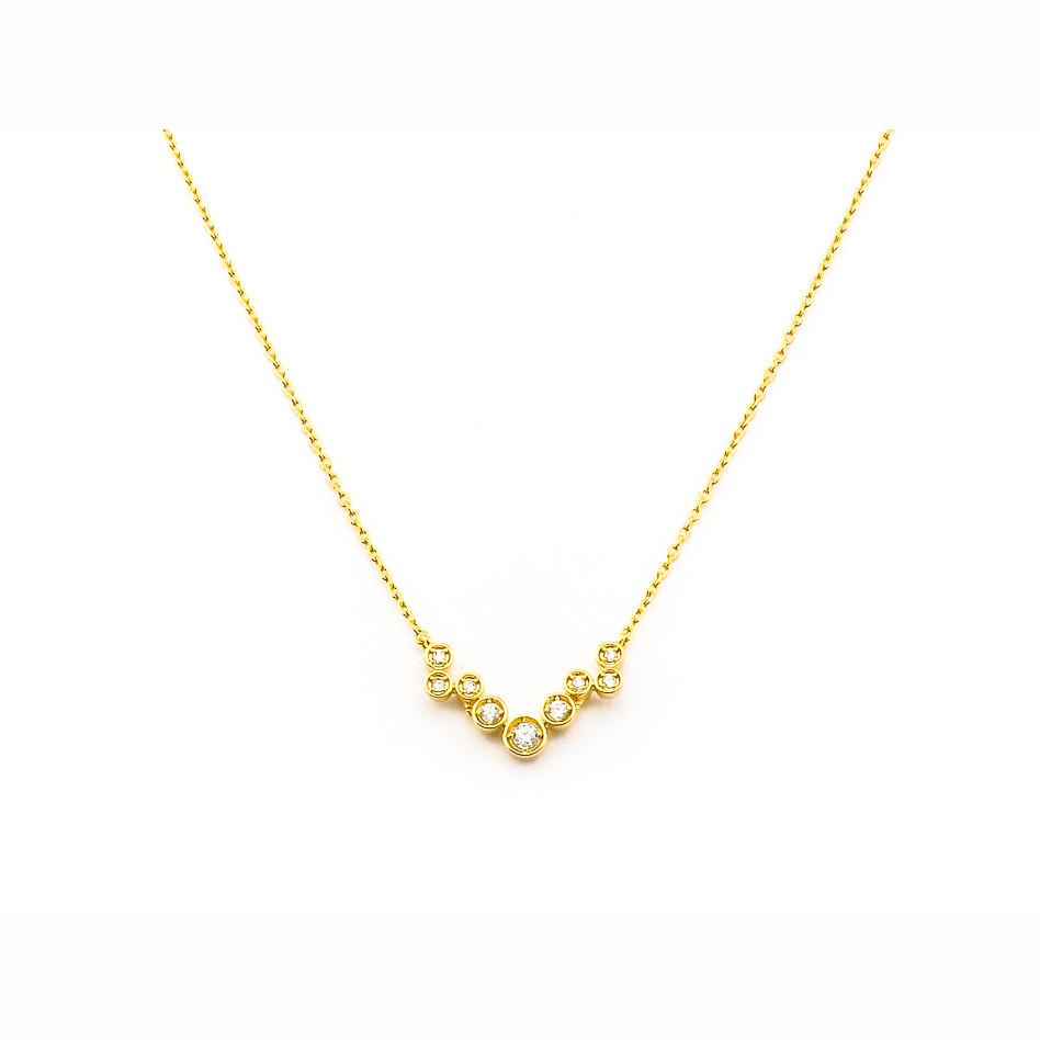 Chain Cluster Necklace Gold Tai Jewelry