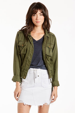 Coreen Cargo Pocket Jacket Forest Night Dear John Denim
