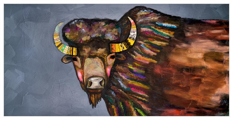 Crowned Bison Wall Art