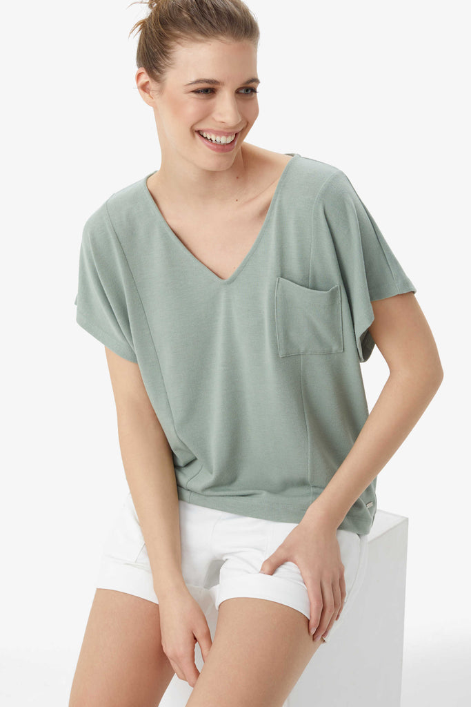Downtown Short Sleeve Top, Green