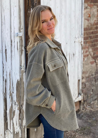 Free People Ruby Jacket, Dirty Olive