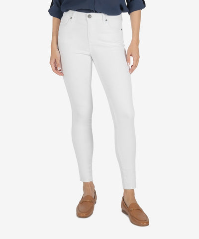Connie High Rise Ankle Skinny, Optic White Wash