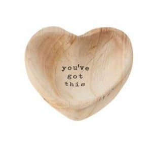 """You've Got This"" Wood Heart Trinket Tray"