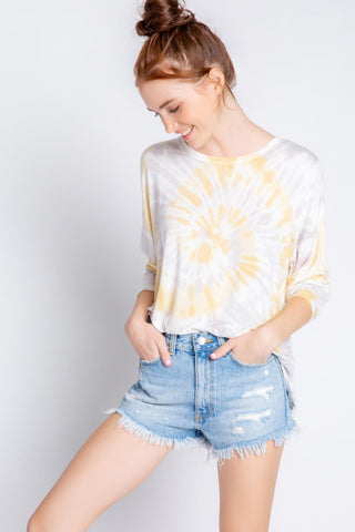 Sunburst Long Sleeve Top, Sunshine