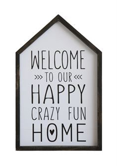 'Welcome To Our Home' Framed Wall Art