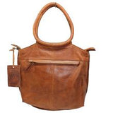 Dalton Leather Handbag In Honey