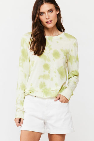 Merick Tie-Dye Long Sleeve Tee, Lime