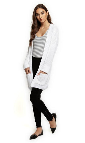 Rhiannon White Sweater Cardigan