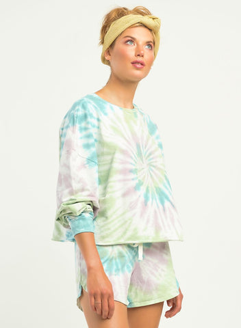 Piper Multicolored Tie-Dye Pullover