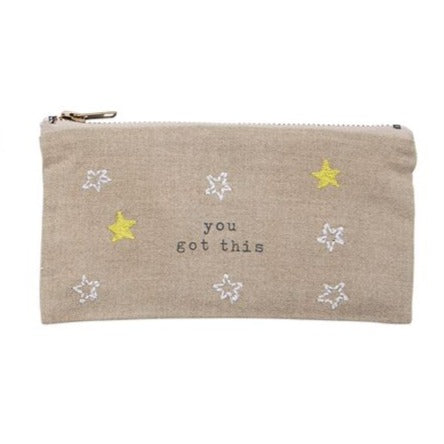 You Got This Embroidered Pouch