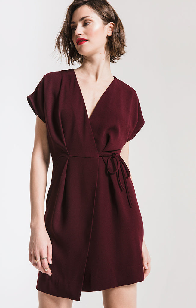 Black Swan Gabriela Wrap Dress In Port Royale