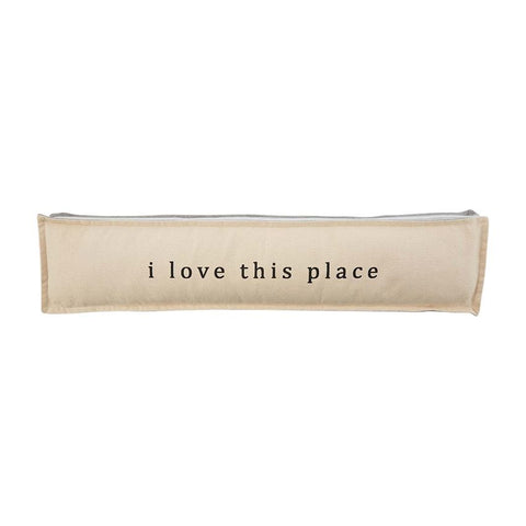 """I Love This Place"" Long Pillow"