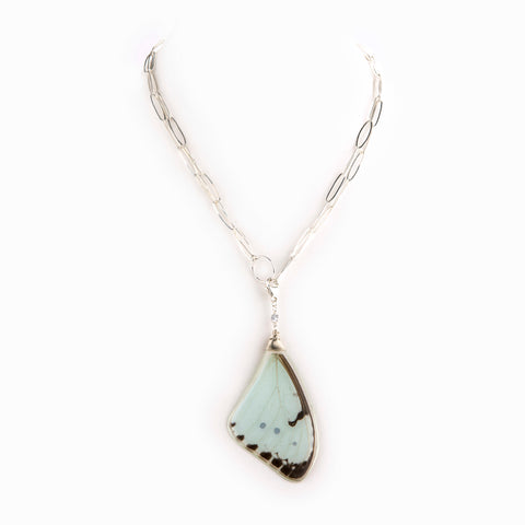 Pastel Butterfly Wing Necklace