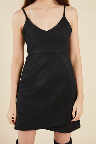 Emmy Suede Dress, Black