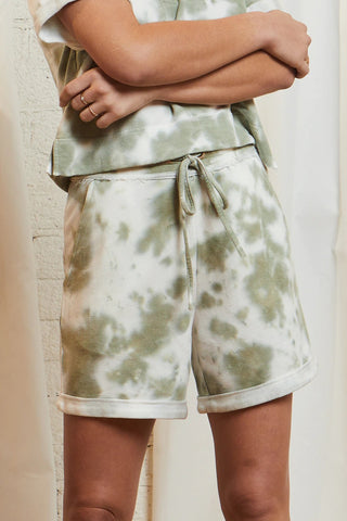 Duchess Tie-Dye Pull-On Short, Olive