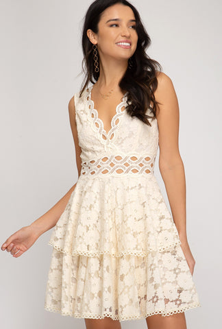 Mila Lace V-Neck Dress