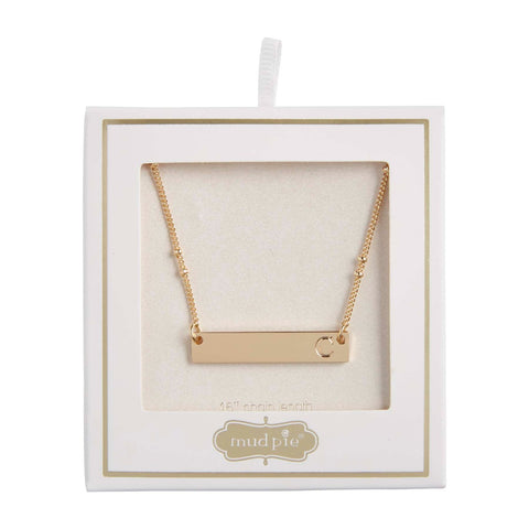 Initial Bar Necklace, C