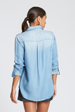 Arlene Button Up Top in Redondo Blue