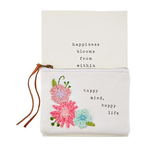 """Happy Mind"" Notebook & Pouch Set"