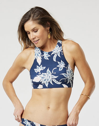 Sanitas Reversible Swim Top In Batik Floral & Mariposa Shore