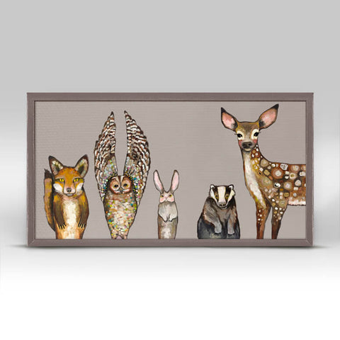 Forest Animals Mini Framed Canvas