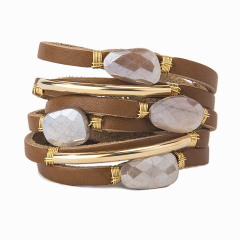 Gia Shred Leather Bracelet Taylor & Tessier
