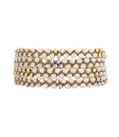 Glass Wrap Bracelet In Champagne