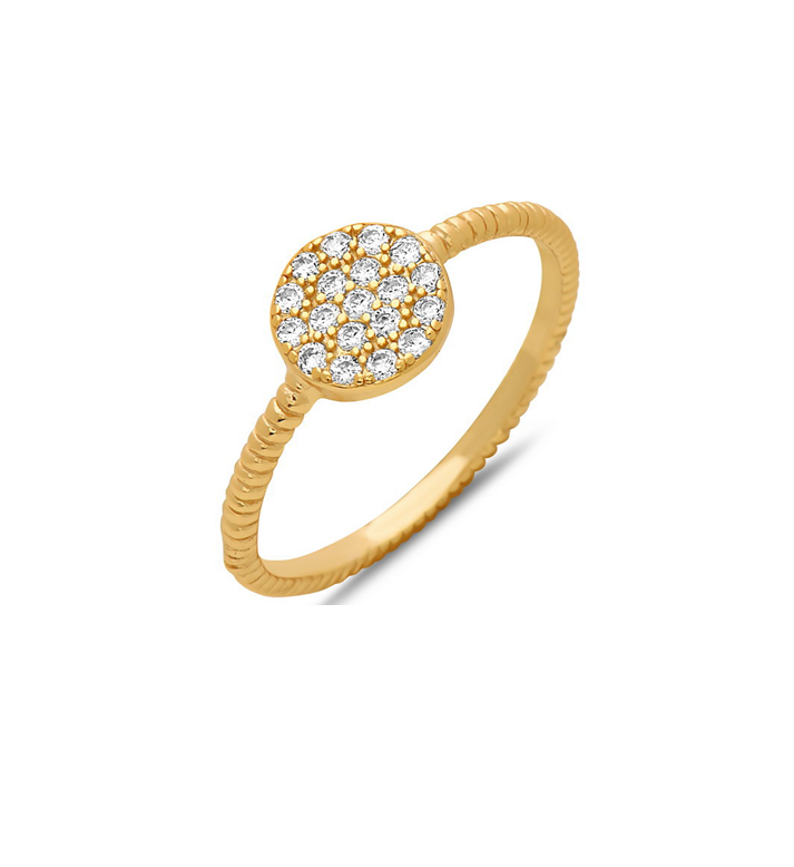 Juniper Micro Pave Gold Ring